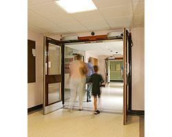 Automatic doors at James Paget hospital