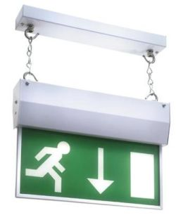 Illuminated Emergency exit sign